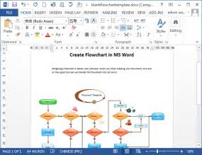 Microsoft Word Flowchart Template by Flowcharts In Word