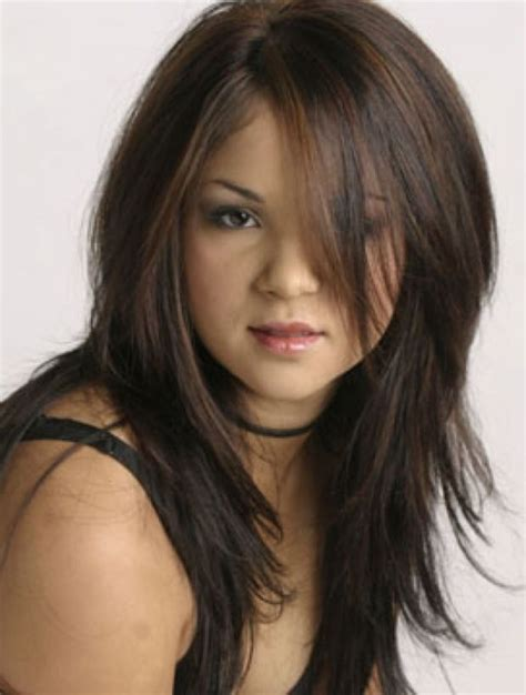 feathered haircuts in front the best cuts for straight hair and a round face long