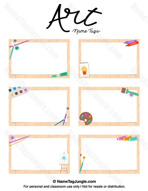 printable name tags pdf free printable art name tags the template can also be