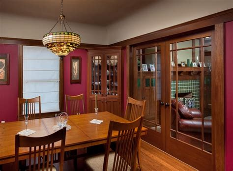 Craftsman Style Homes Exclusive Interiors With A Lot Of Craftsman Style Lighting Dining Room