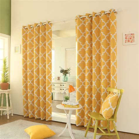 yellow moroccan curtains yellow grommet curtains best home design 2018