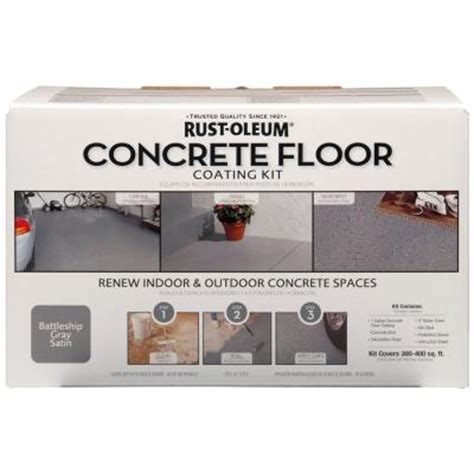 rust oleum concrete floor coating kit 265054 the home depot