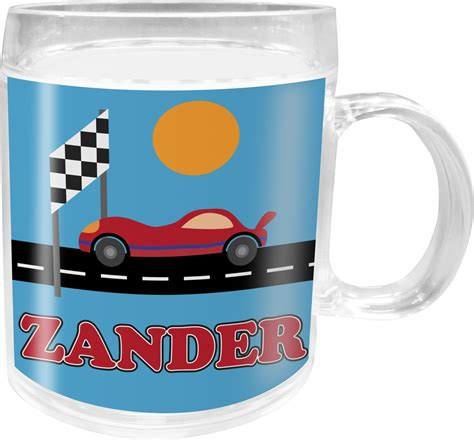 Custom Rainbow Car Mug race car acrylic mug personalized youcustomizeit