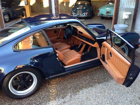 1984 porsche 911 dunkelblau with cork interior porsche interiors corks