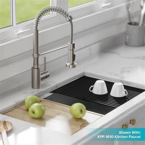 Kraus 32 Inch Undermount Sink by Kraus Kore Workstation 32 Inch Undermount 16 Single