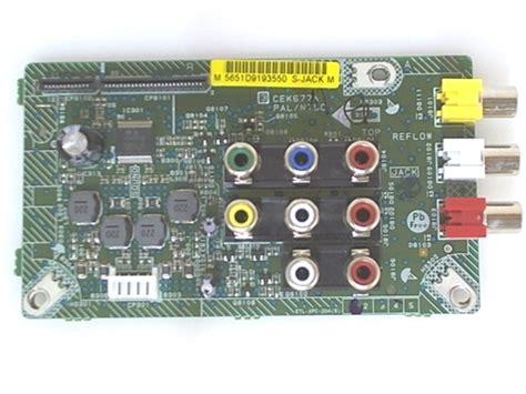 Cek Tv Toshiba hitachi tv model l40a105 input board part number cek677a