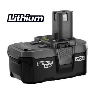 ryobi 18 volt one high capacity lithium ion battery p105