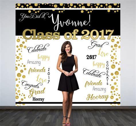 Wedding Backdrop Classes by Graduation Photo Backdrop Congrats Grad Personalized