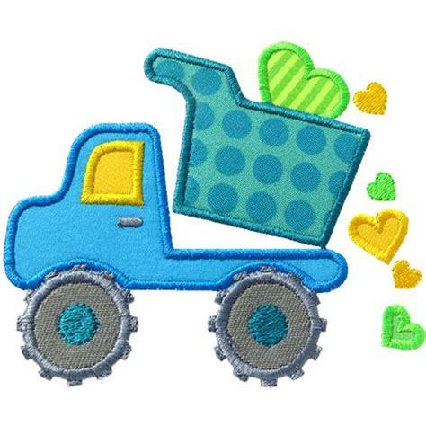 Valentines Day Dump Truck Applique by Dump Truck Applique By Happyapplique