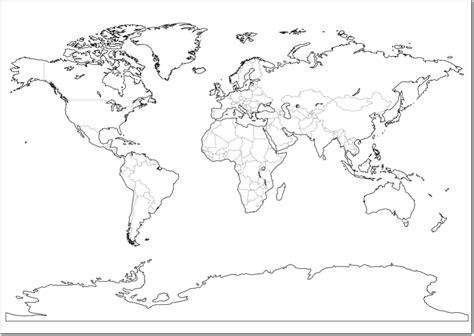 Mapa Del Mundo En Blanco Y Negro | mapa en blanco del mundo