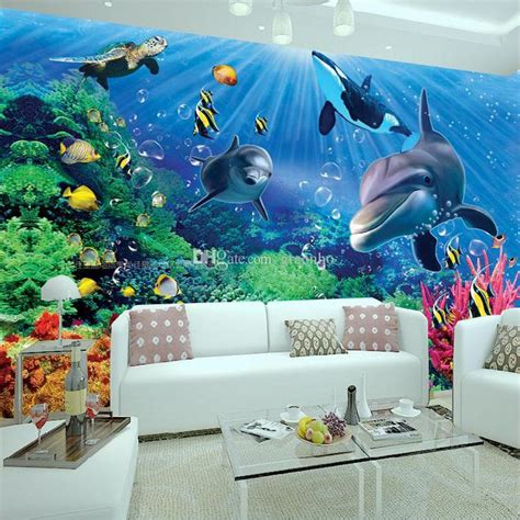 3d floor painting wallpaper underwater world mermaid 3d floor pvc 3d wall mural underwater world photo wallpaper interior