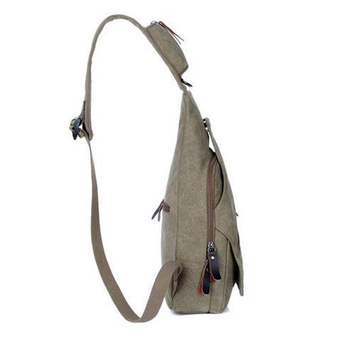 Canvas Chest Bag Grey Intl mens cover canvas chest pack single shoulder bag khaki
