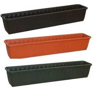 Plastic Window Box Planters - ornamental trough garden plastic planter indoor outdoor plant pot long pot herb ebay