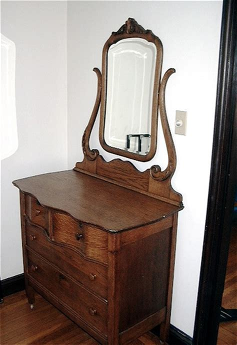 Vintage Bedroom Vanity With Mirror by Early 1900s Antique Oak Dresser With Mirror Oak Dresser