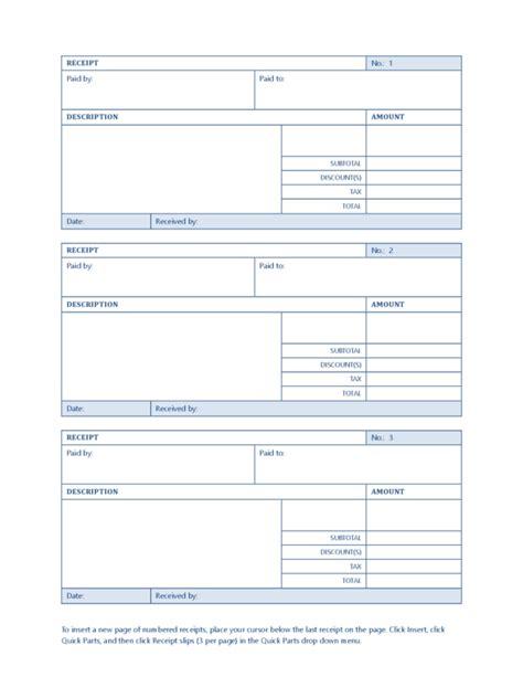receipt sles templates sales receipt template legalforms org