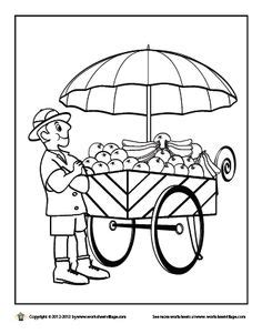 food cart coloring page pancake coloring sheet food coloringsheets pancakes