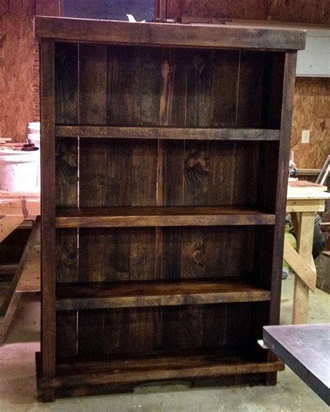 rustic bookshelf barnwood bookshelf palletwood