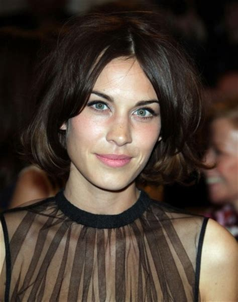 bob haircuts with center part bangs short center part hairstyles with bangs