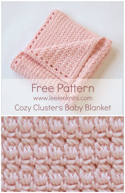 is crochet or knitting easier cozy clusters free crochet baby blanket pattern sewing