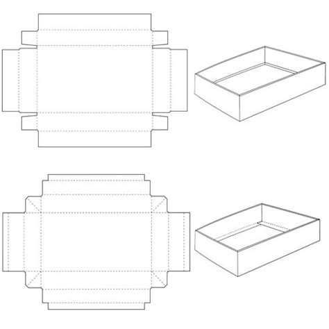 templates for foldable boxes tray and lid corrugated and folding carton box templates