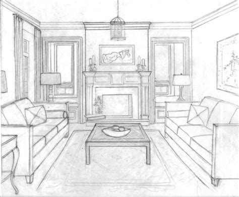 1 Point Perspective Room Interior - 1 point perspective interior room one point perspective