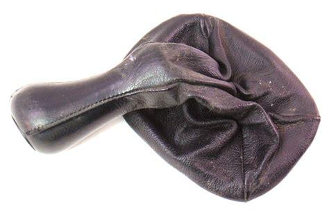 stock genuine leather vw manual shift knob boot jetta gti cabrio mk glx
