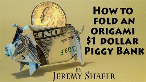 how to make origami out of money 1 origami piggy bank doovi