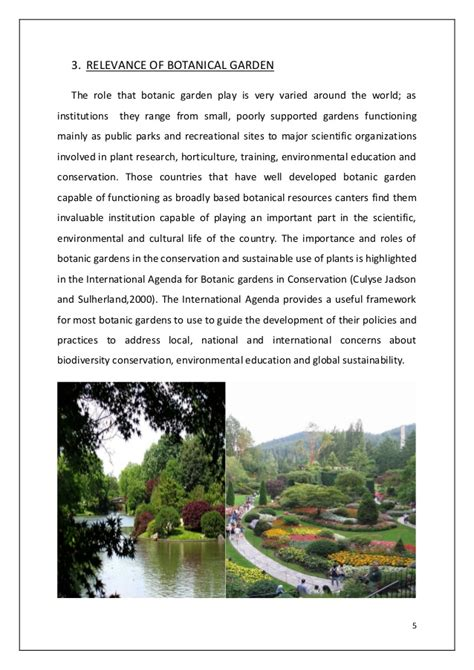 Relevance And Scope Of Botanical Garden For Science Learning Why Are Botanical Gardens Important