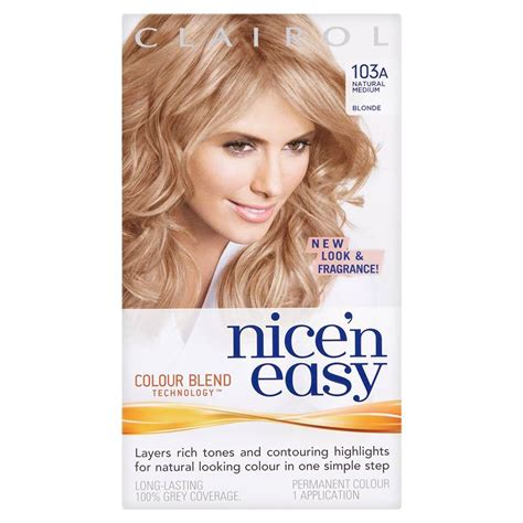 nice and easy hair color chart clairol nice n easy permanent hair colour natural medium