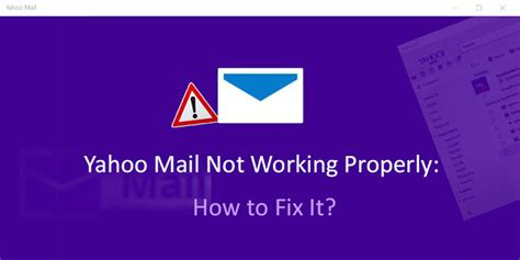 yahoo email quick fix yahoo mail not working properly how to fix it