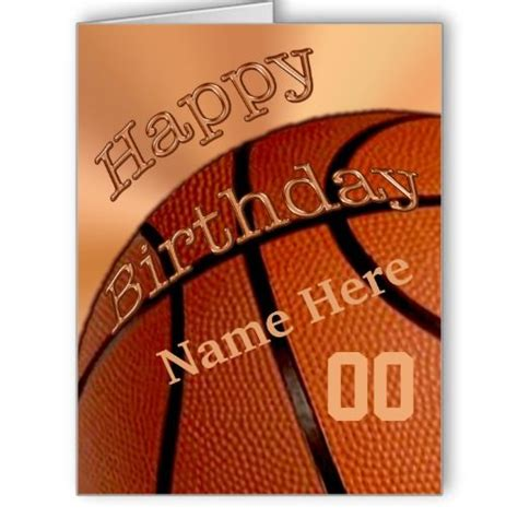 Basketball Birthday Cards Big Personalized Happy Birthday Basketball Cards Jersey