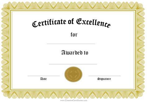 Template for Award Certificate   Certificate Templates