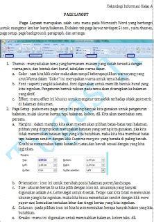 menu layout adalah menu untuk mengatur fungsi icon pada menu page layout ms word 2007 riskita