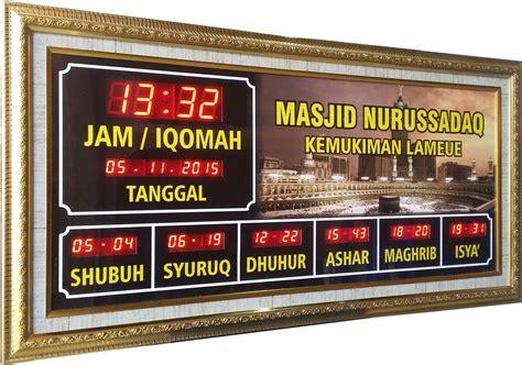 Jadwal Sholat Masjid Digital Timmer Iqomah jam digital masjid aceh