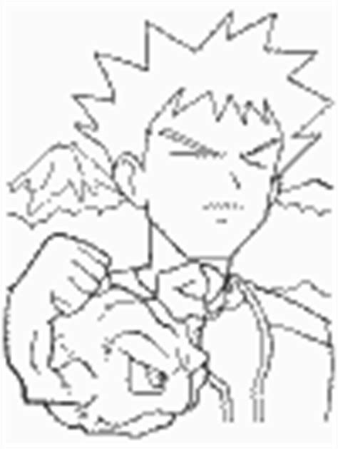 pokemon coloring pages dltk pokemon trainers brock