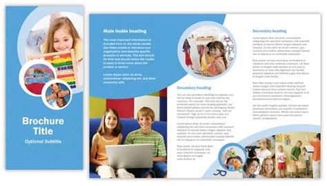 play school brochure templates school brochure template csoforum info