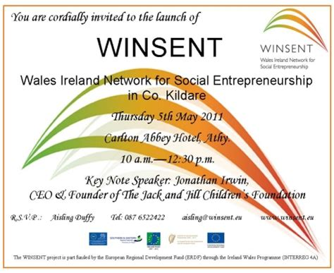 Invitation Letter To Launch A Product Winsent Kildare Official Launch Athy May 5th