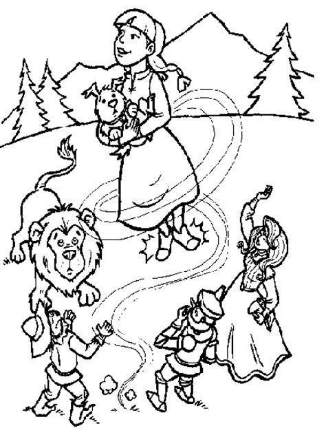 Wizard Of Oz Coloring Pages For Kids Coloringpagesabc Com Wizard Of Oz Printable Coloring Pages