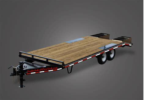 light duty gooseneck trailer premium 16000 gvwr flatbed trailer by trailer sales of ny