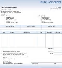 Purchase Order Contract Template by Doc 600605 Purchase Order Contract Template Doc404522