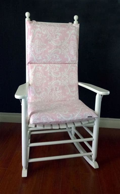 Rocking Chair Cushion Nursery Rocking Chair Cushion Baby Pink Damask