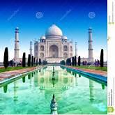 Taj Mahal Palace In India, Indian Temple Tajmahal Stock Photo - Image ...
