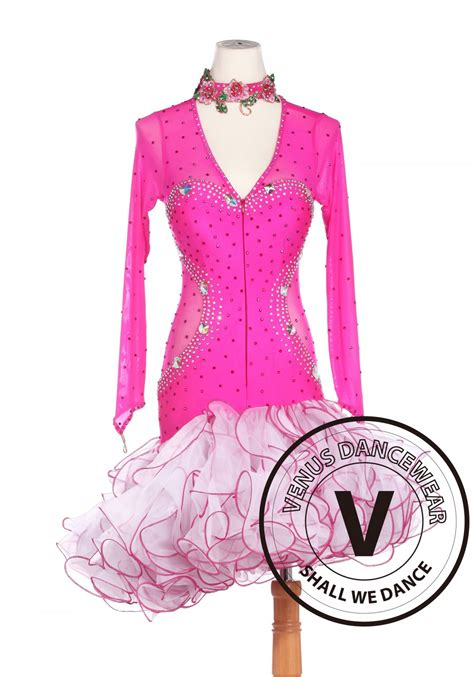 Salsa Dress Pink pink salsa cha cha rumba competition