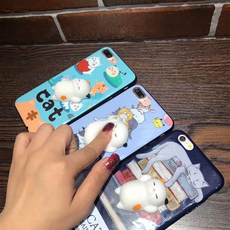 Squishy Lazy Cat Squeeze Soft Silicone Iphone bakeey 3d squishy squeeze rising soft lazy cat pc for iphone 7 8 7plus