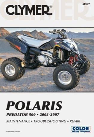 Polaris Predator Manual 500 Repair Service Shop