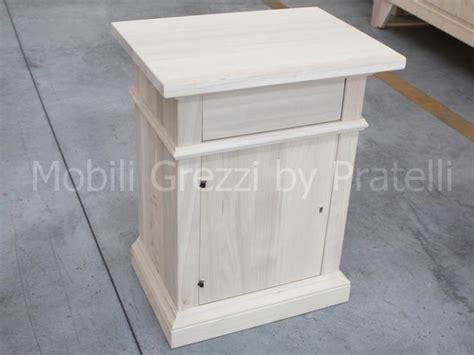 comodini in legno grezzo comodini grezzi comodino grezzo sabrina