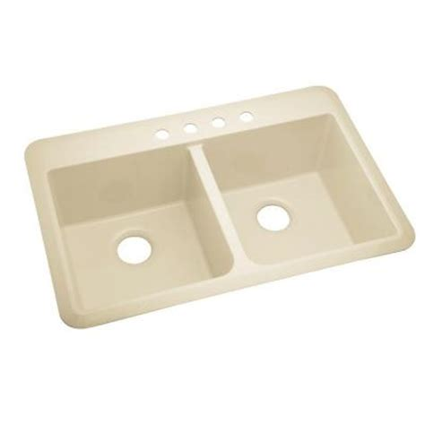 Slope Drop In Vikrell 33x22x9 4 Hole Double Bowl Kitchen Discontinued Kitchen Sinks