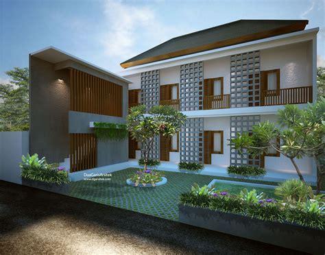 konsep kost mewah rumah kebun rumah  arsitektur