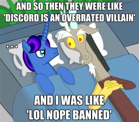 Discord Meme - my little pony discord as a girl memes