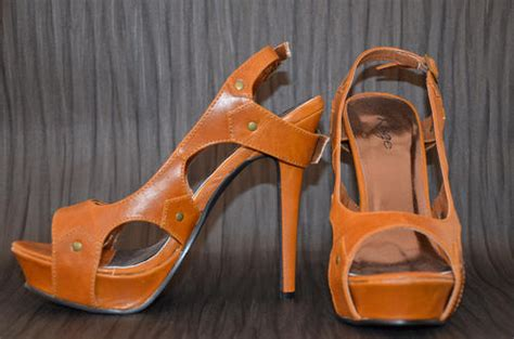 rage high heels shoes rage beige high heel sandal size 5 was sold for